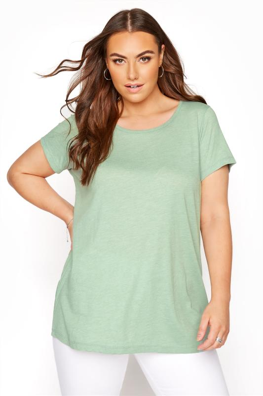 Sage Marl T-Shirt
