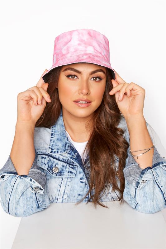 Plus Size  Pink Tie Dye Bucket Hat