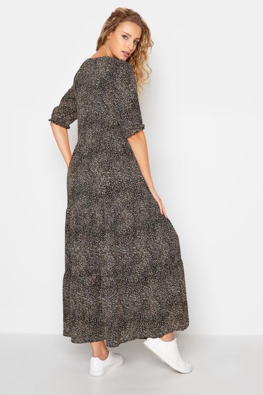 LTS Black Speckled Tiered Midaxi Dress_D.jpg