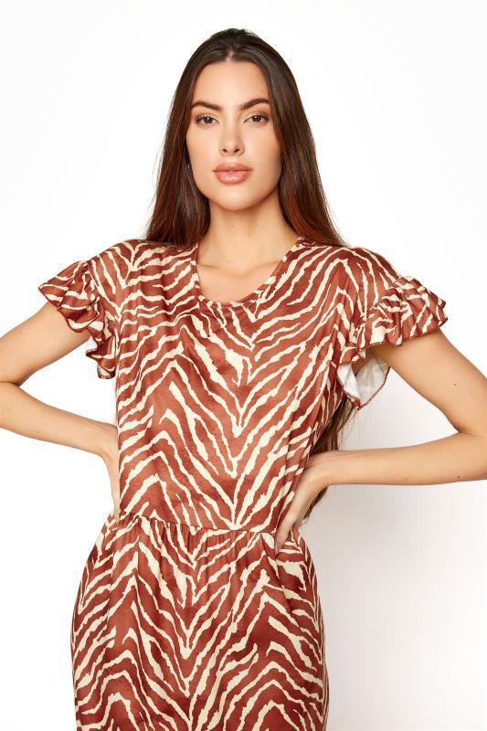 LTS Rust Zebra Print Tiered Midaxi Dress_D.jpg