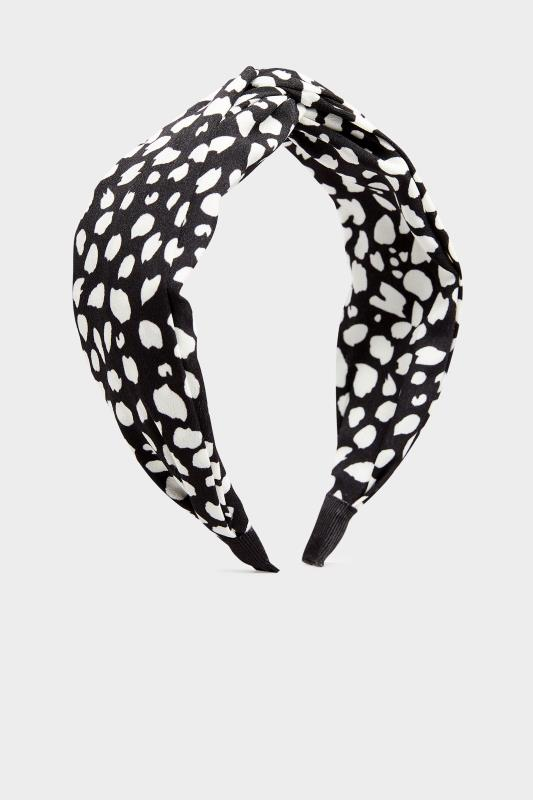 Black Animal Print Twist Headband_A.jpg