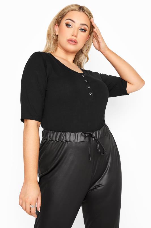 LIMITED COLLECTION Black Basic Popper Bodysuit
