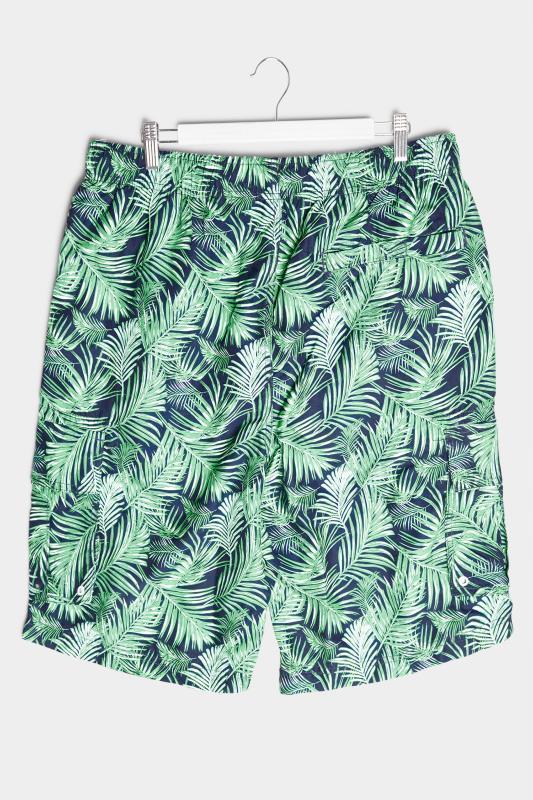 BadRhino Navy Palm Leaf Cargo Swim Shorts_BK.jpg