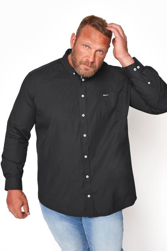 Men's  BadRhino Black Cotton Poplin Long Sleeve Shirt