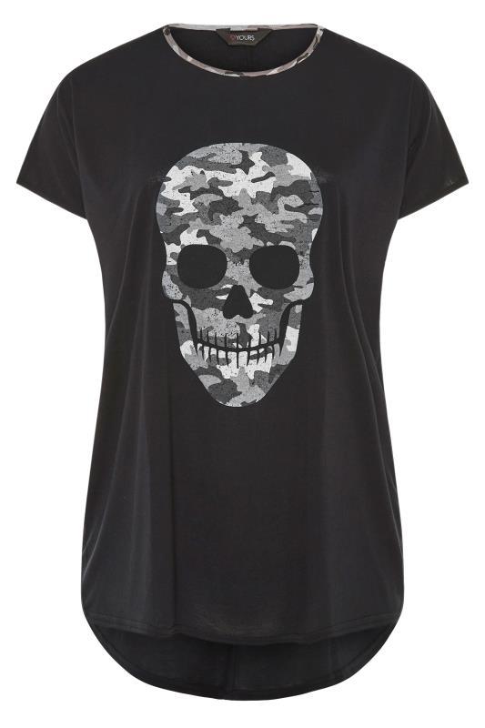 Black Camo Skull Print T-Shirt_F.jpg