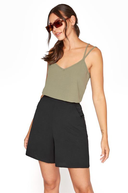 Tall  LTS Black Textured Shorts