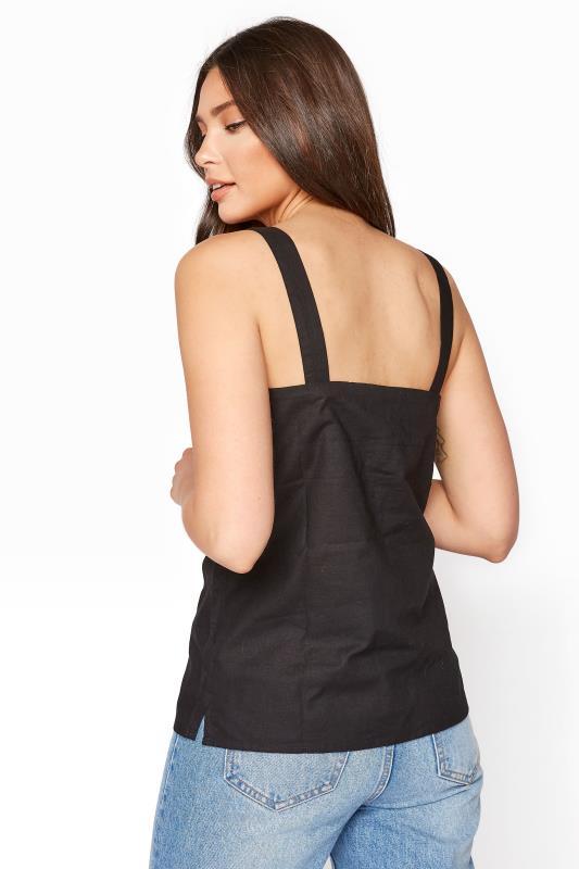 Black Sleeveless Linen Lace Top_C.jpg