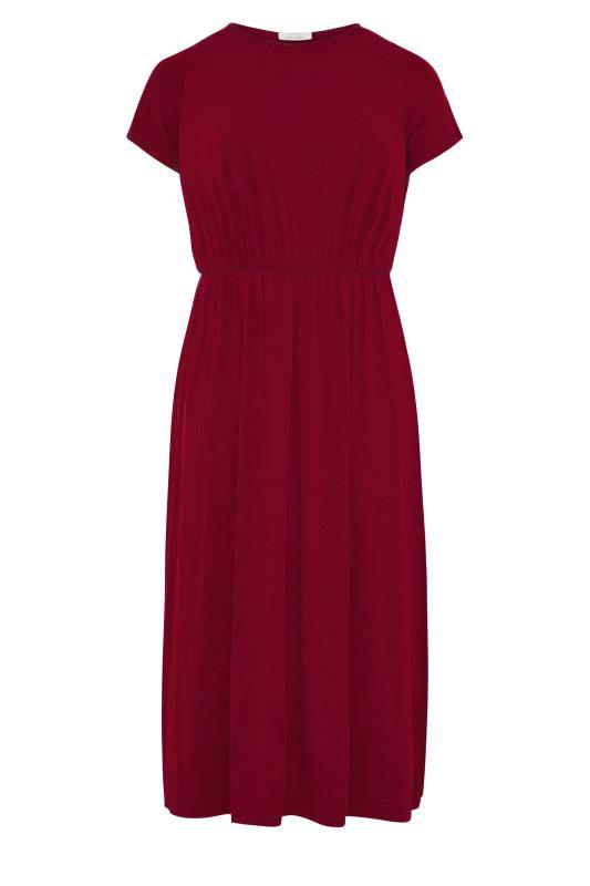YOURS LONDON Wine Red Pocket Maxi Dress_F.jpg