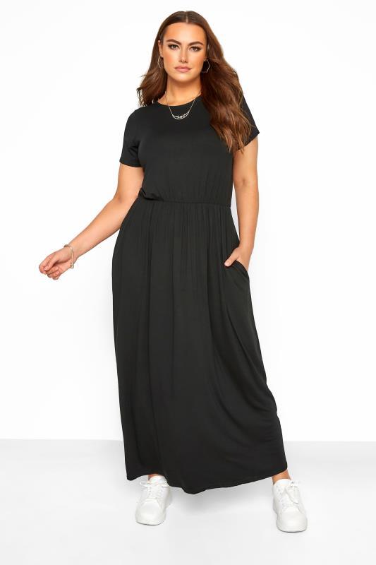 Plus Size  YOURS LONDON Black Pocket Maxi Dress