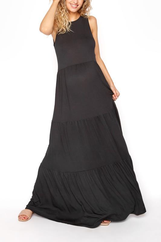 LTS Maternity Black Tiered Maxi Dress_A.jpg