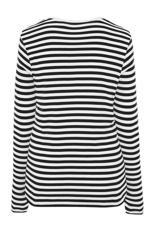 Black & White Stripe Long Sleeve Top_BK.jpg