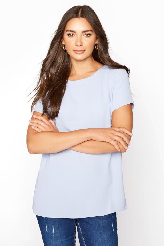 LTS Blue Woven T-Shirt
