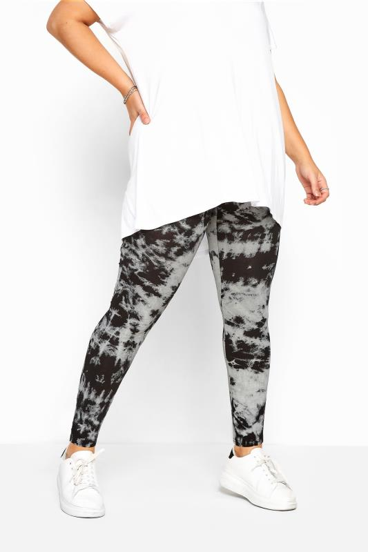 Black Tie Dye Leggings