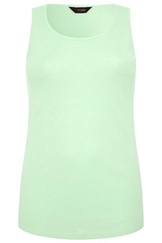 Tops y camisetas sin mangas Tallas Grandes Camiseta sin mangas verde menta
