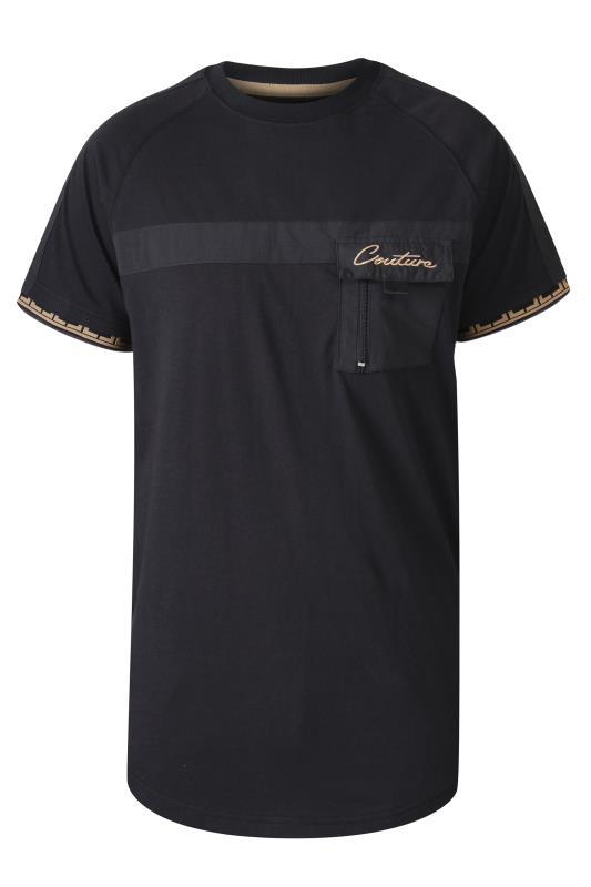 D555 Black Couture Raglan Sleeve T-Shirt
