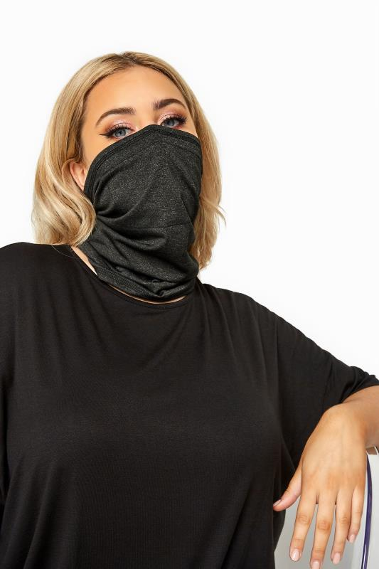 Plus Size  Black Snood Face Mask