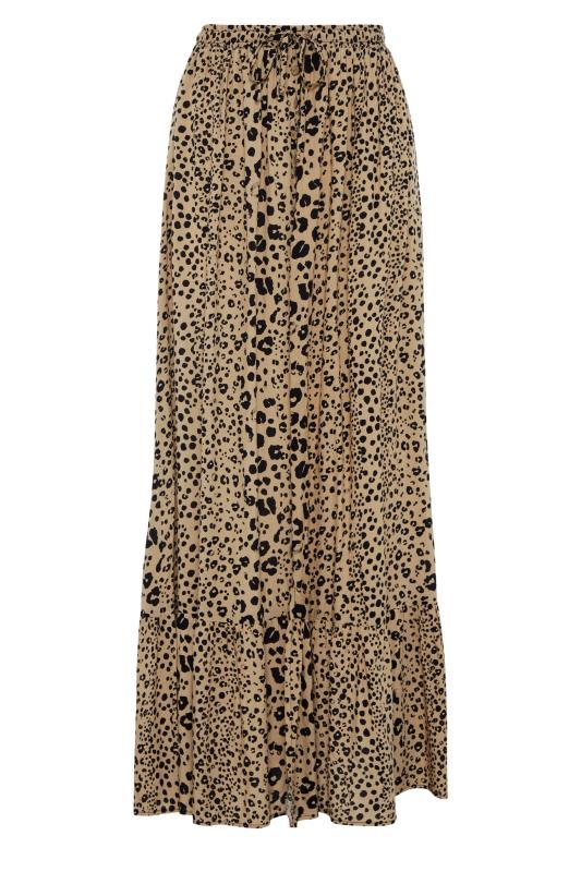 Tall  LTS Beige Animal Print Maxi Skirt