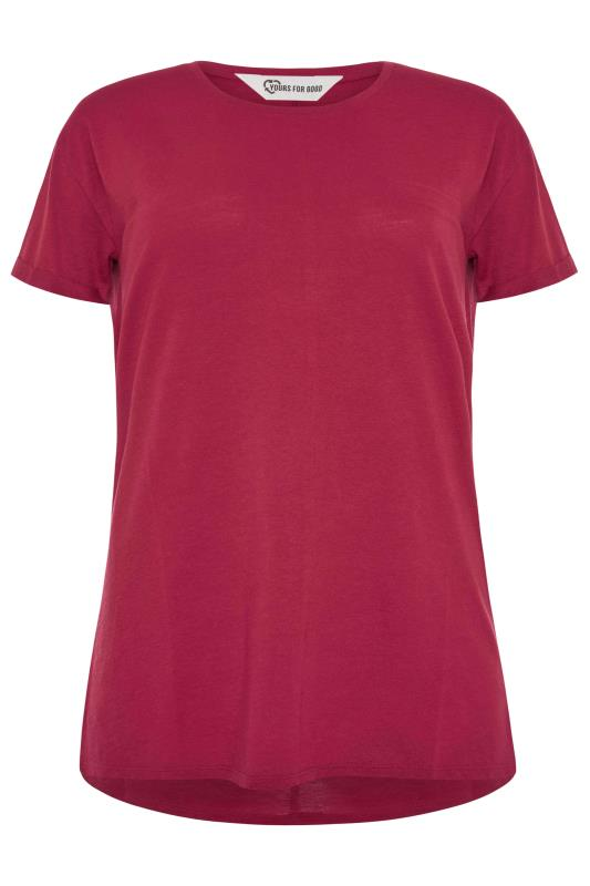 SUSTAINABLE Red Organic Cotton Blend Pocket T-Shirt_F.jpg