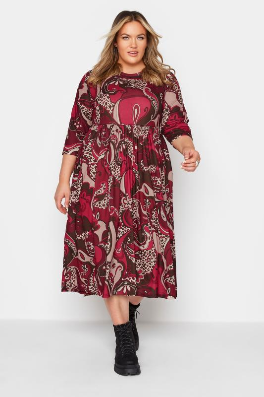 Plus Size  LIMITED COLLECTION Red Paisley Print Midaxi Dress
