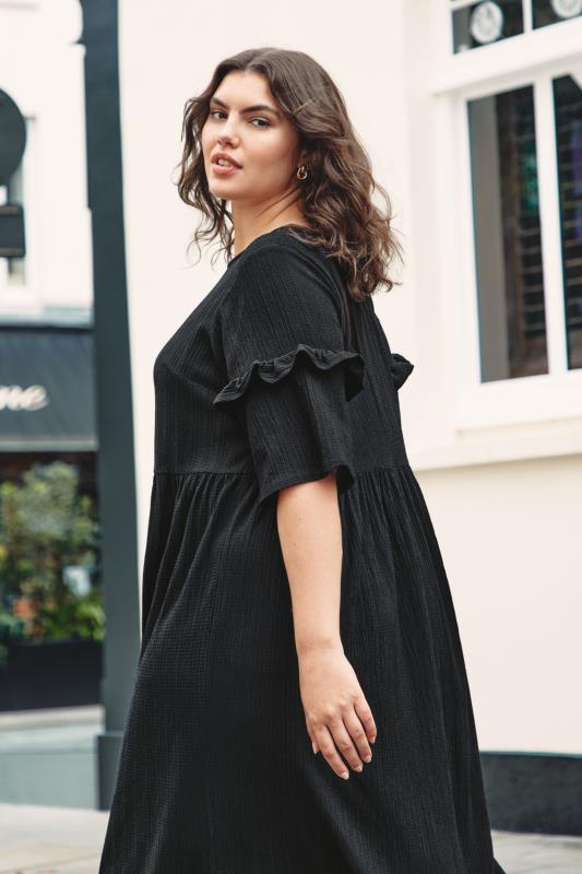 THE LIMITED EDIT Black Smock Midaxi Dress_L1.jpg