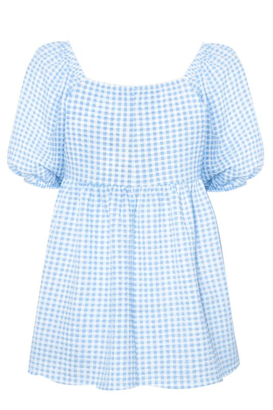LIMITED COLLECTION Blue Gingham Milkmaid Top_BK.jpg