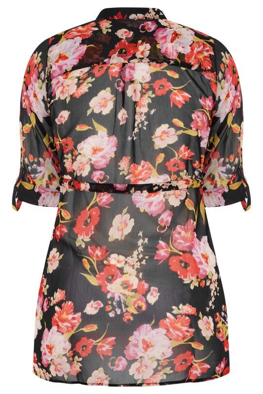 Black Floral Tie Waist Shirt_BK.jpg