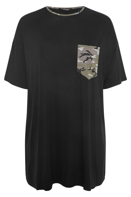 LIMITED COLLECTION Black Camo Pocket T-Shirt_F.jpg