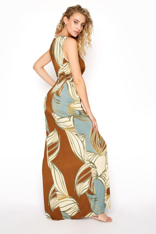LTS Multicoloured Leaf Print Panelled Sleeveless Maxi Dress_C.jpg
