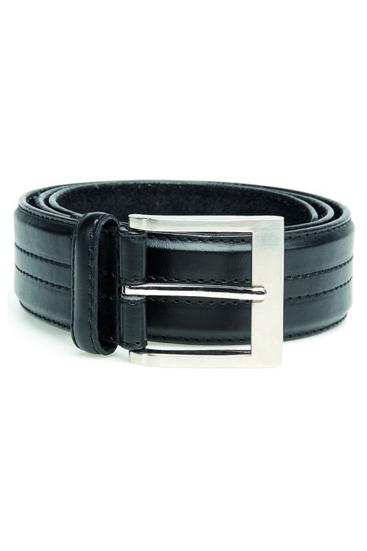Men's  D555 Black Four Stitch Belt