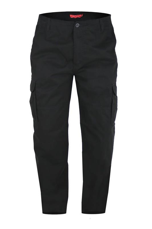 Tallas Grandes D555 Black Cargo Trouser