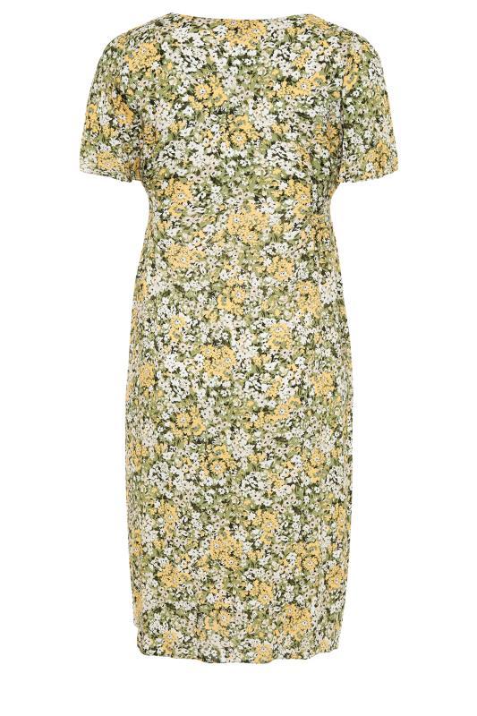 YOURS LONDON Green Floral Button Through Midi Dress_bk.jpg