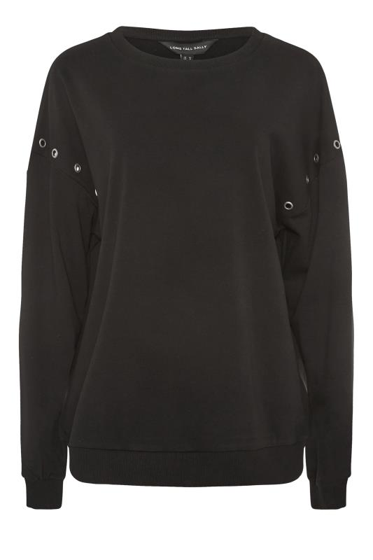 LTS Black Eyelet Detail Sweatshirt_F.jpg