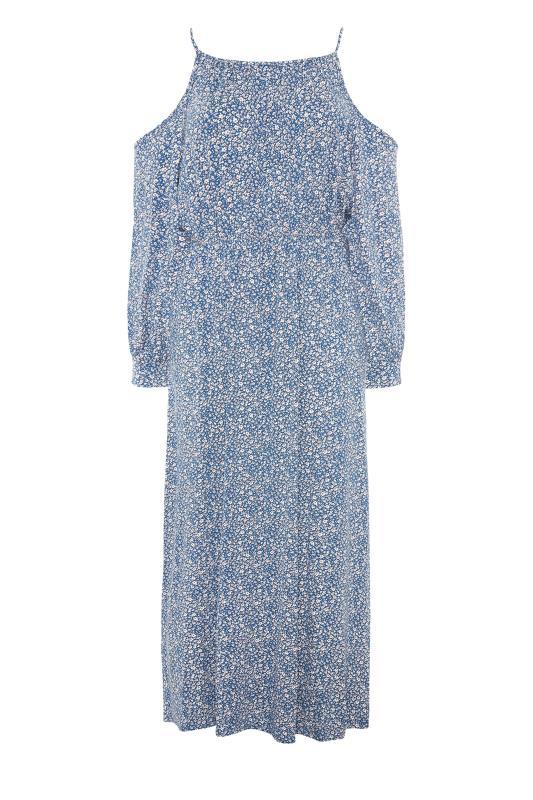 Blue Floral Cold Shoulder Maxi Dress_F.jpg