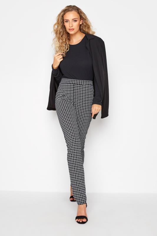 Tall  LTS Black Check Slim Leg Trousers
