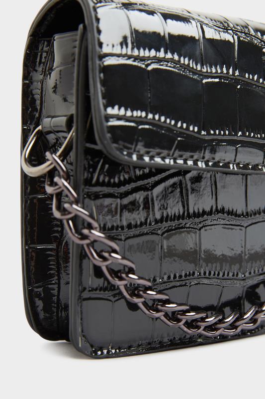 Black Croc Chain Mini Cross Body Bag_F.jpg