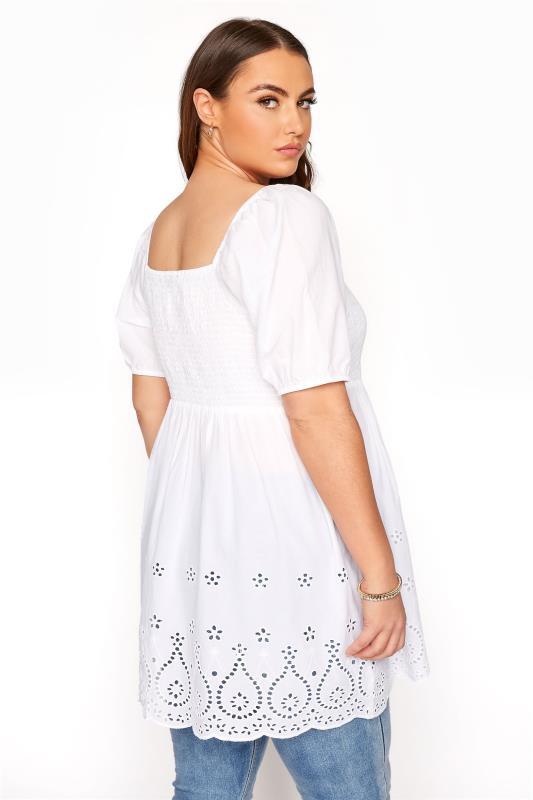 White Shirred Peplum Milkmaid Top_C.jpg