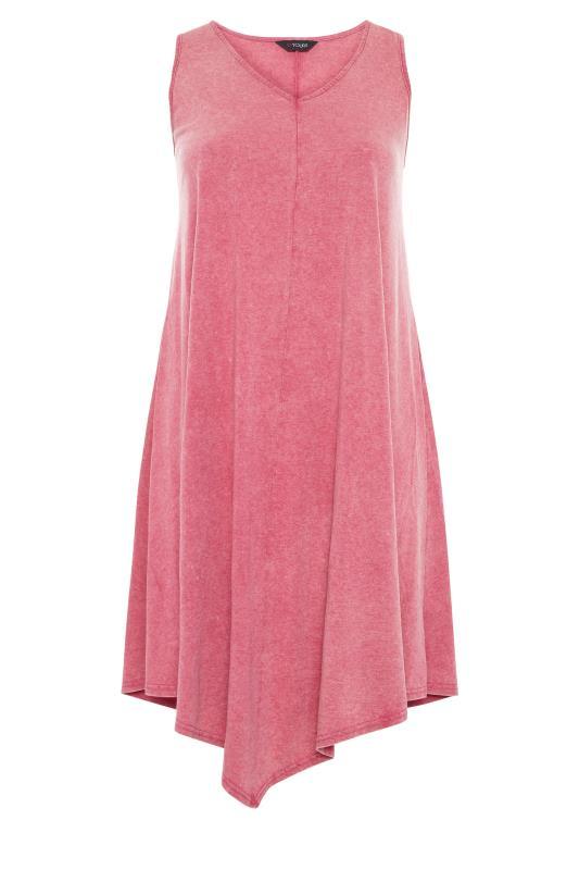 Pink Acid Wash Hanky Hem Sleeveless Dress_f.jpg