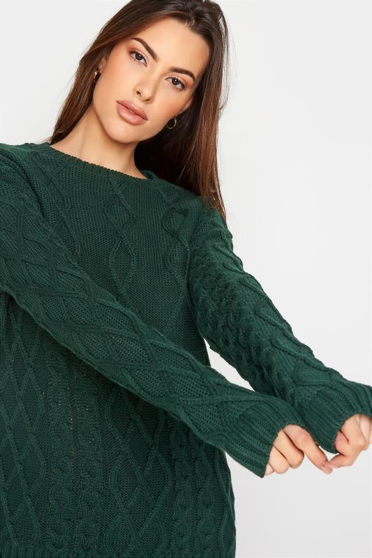 LTS Forest Green Cable Knit Jumper_D.jpg