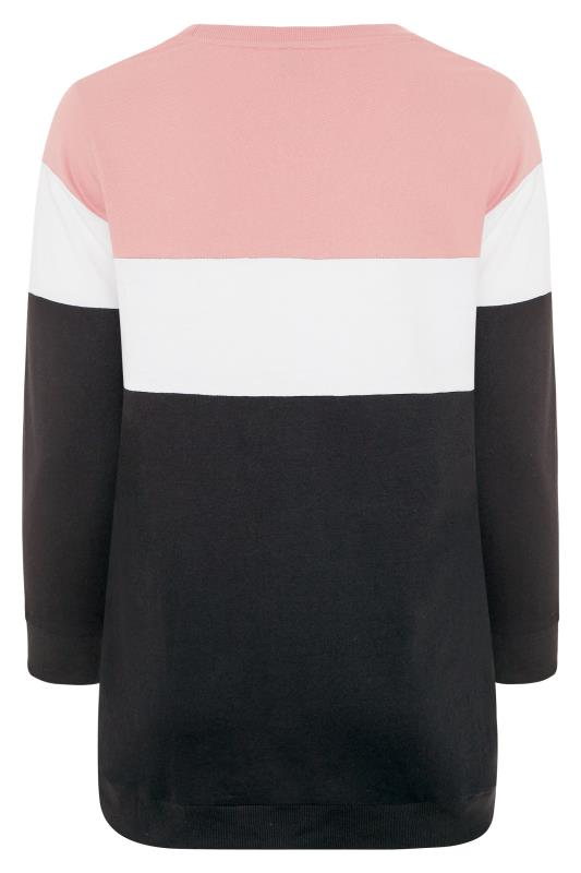 Pink & Black 'LA' Slogan Colourblock Sweatshirt_BK.jpg