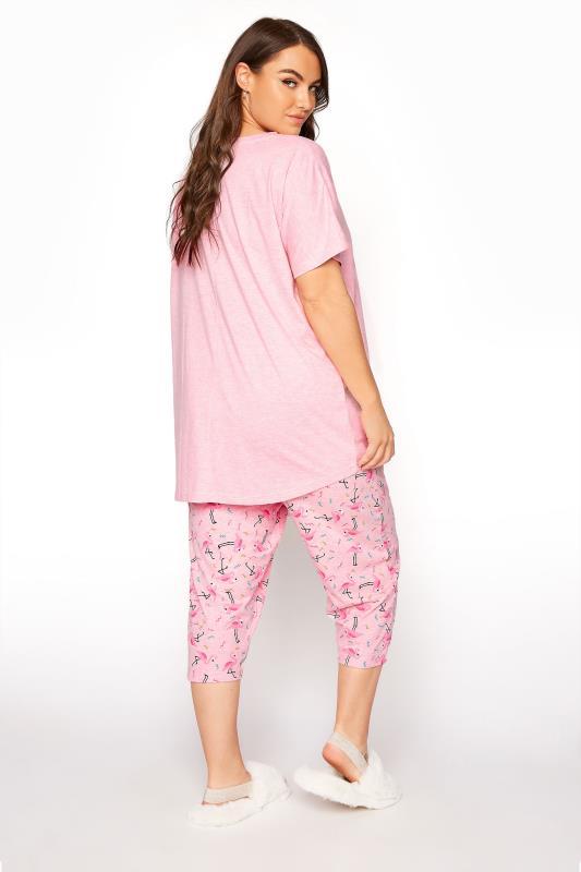 Pink Flamingo Printed Cropped Pyjama Set_C.jpg