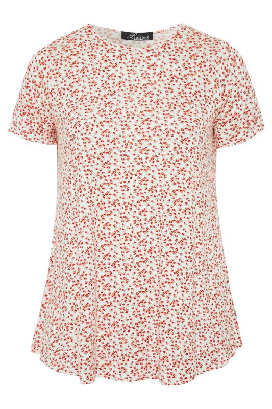 LIMITED COLLECTION White and Red Floral Swing Top_F.jpg