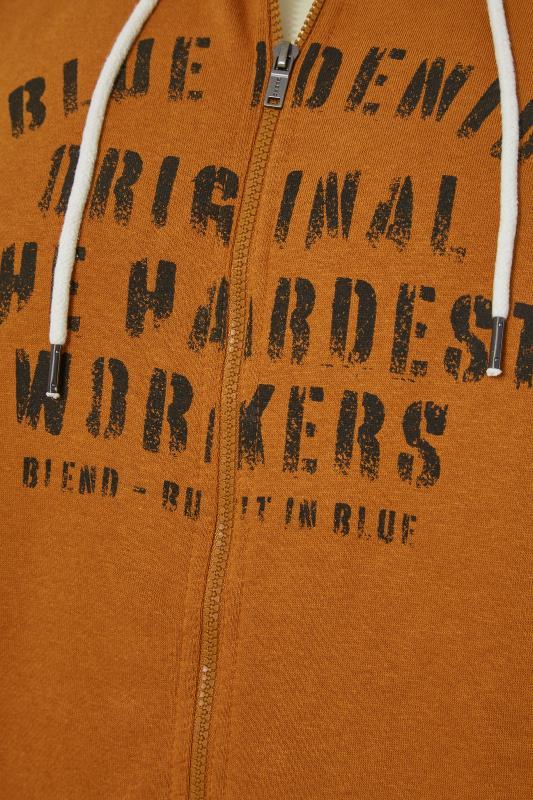 BLEND Orange Printed Zip Through Sweat Hoodie_S.jpg