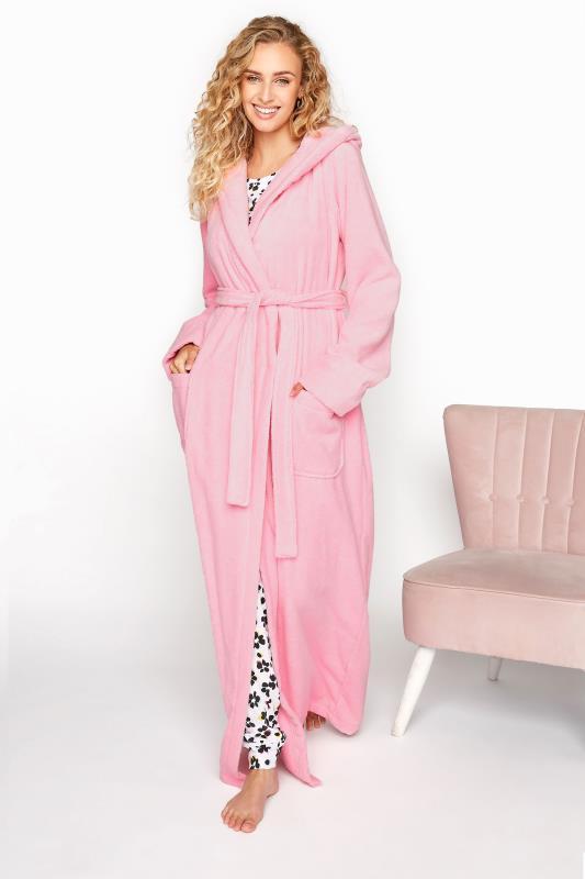 Tall  LTS Pink Cotton Maxi Robe