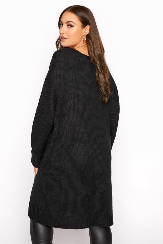 Black Drop Sleeve Knitted Jumper Dress_C.jpg
