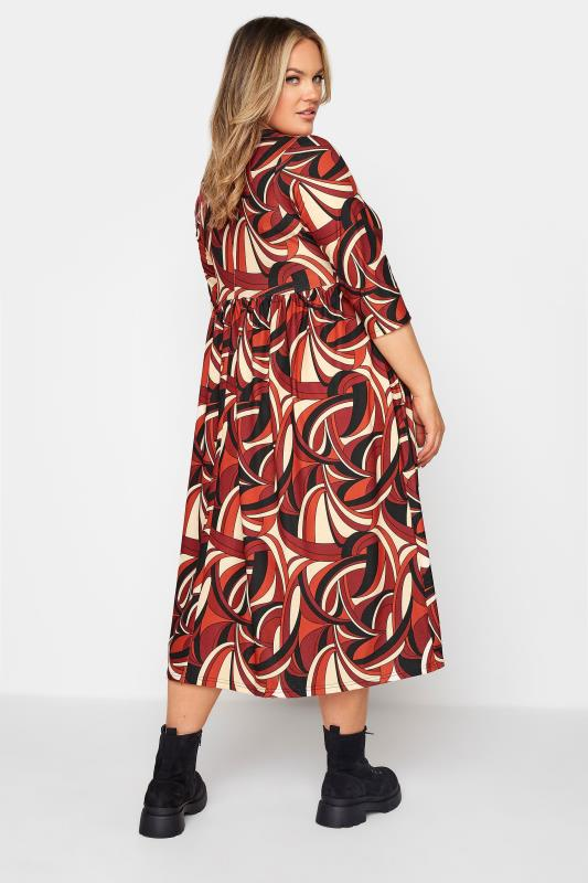 LIMITED COLLECTION Red Abstract Print Midaxi Dress_C.jpg
