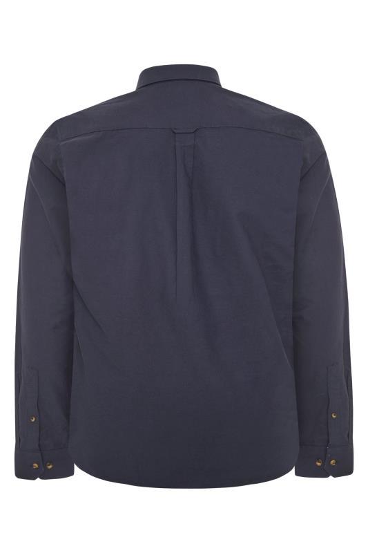 RAGING BULL Navy Signature Oxford Shirt_BK.jpg