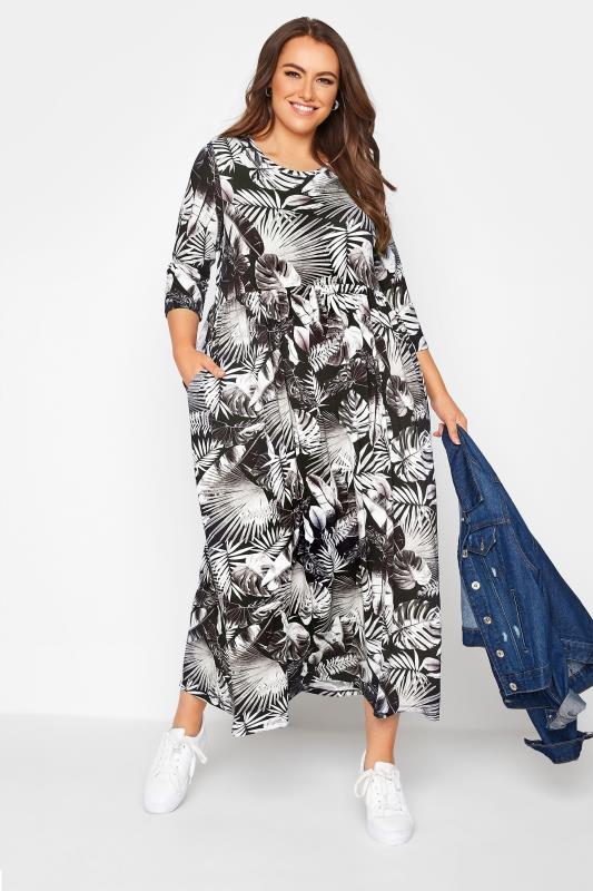 Black Leaf Print Midaxi Dress_B.jpg