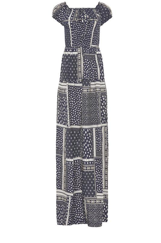 LTS Navy Shirred Bardot Maxi Dress_f.jpg