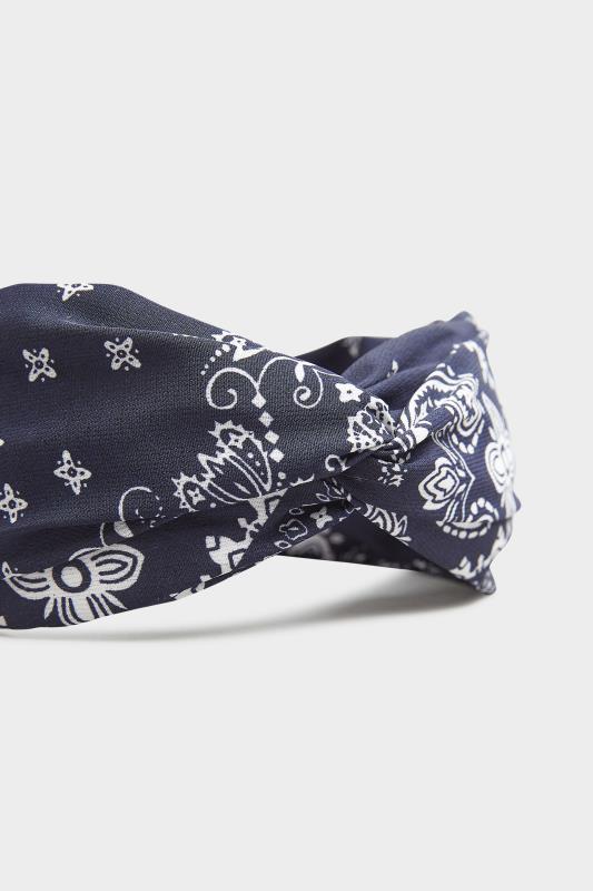 Navy Bandana Print Headband_D.jpg