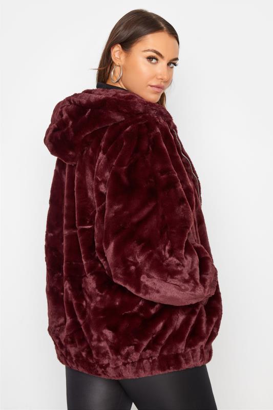 Burgundy Faux Fur Oversized Jacket_CR.jpg